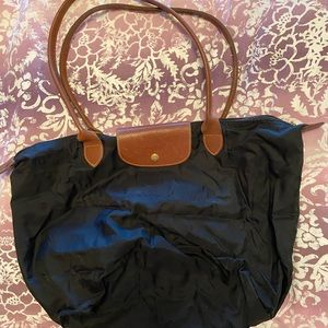 Long Champ Le Pliage LRG  blck Nylon shoulder bag